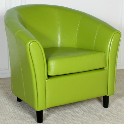 Napoli Bonded Leather Chair Lime Green