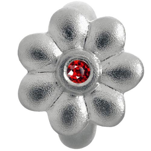 Endless Jewelry Garnet Flower Dream Charm - Silver