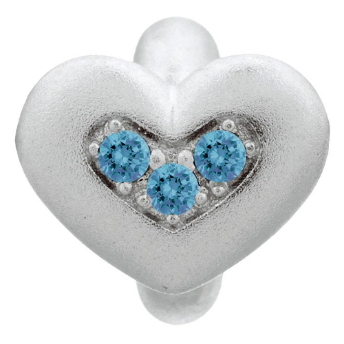 Endless Jewelry Sky Blue Triple Love Charm - Silver