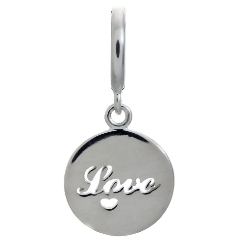 Endless Jewelry Love Coin Charm - Silver