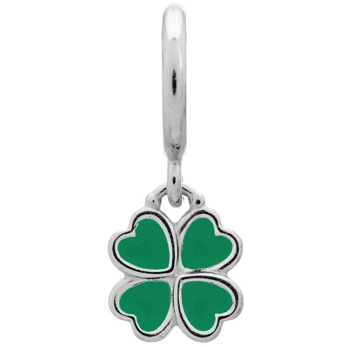 Endless Jewelry Green Clover Charm - Silver