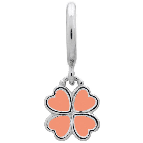 Endless Jewelry Coral Clover Charm - Silver