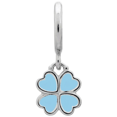 Endless Jewelry Light Blue Clover Charm - Silver