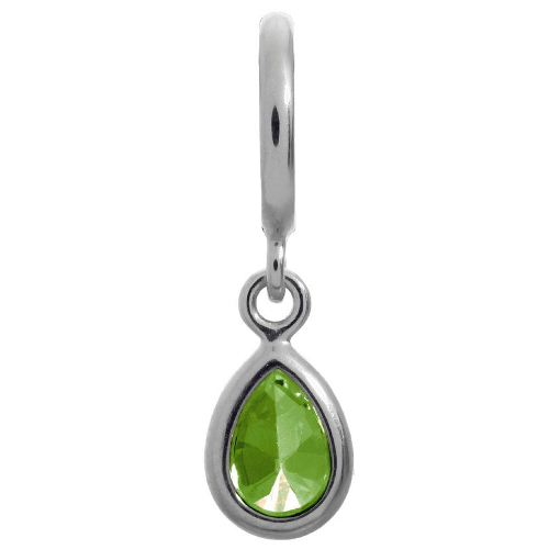 Endless Jewelry Peridot Drop Charm - Silver