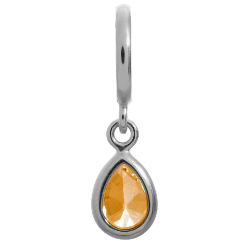 Endless Jewelry Citrine Drop Charm - Silver