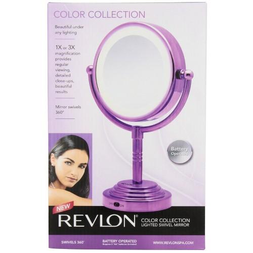 Revlon Lighted Swivel Mirror - Purple