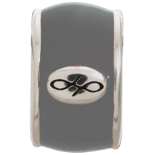 Endless Jewelry Grey Endless Enamel Charm - Silver