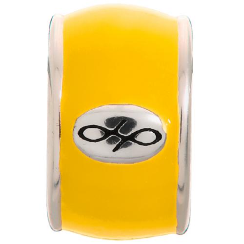 Endless Jewelry Yellow Endless Enamel Charm - Silver
