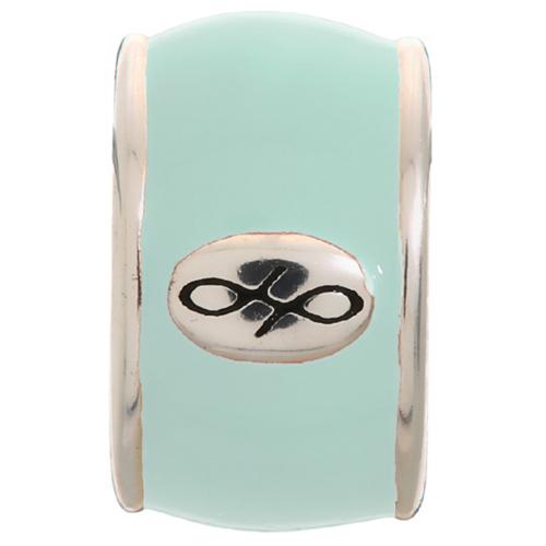 Endless Jewelry Mint Green Endless Enamel Charm - Silver