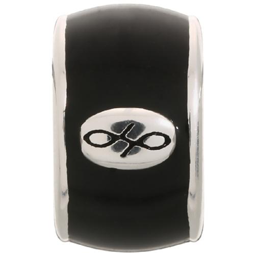Endless Jewelry Black Endless Enamel Charm - Silver