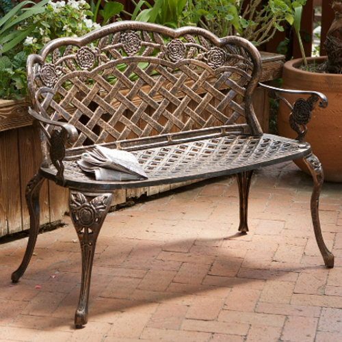 Lucia Outdoor Garden Bench Brown