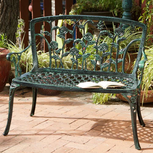 Saint Kitts Patio Bench Green