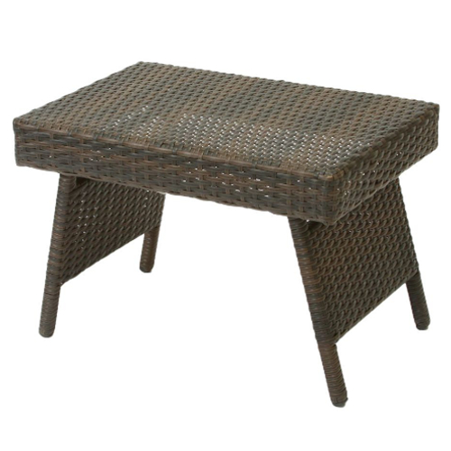 Outdoor Wicker Table Brown