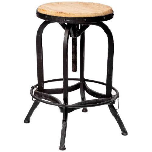 Adjustable Barstool Wood