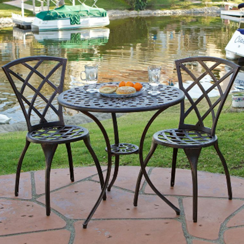 Patio Bistro 3 pc Set Brown
