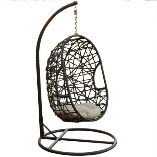 Egg Shaped Swing Chair Brown