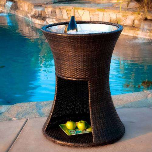 Apollo Wicker Beverage Caddy Brown