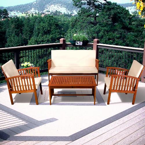 Carolina Outdoor Sofa 4pcSet Natural
