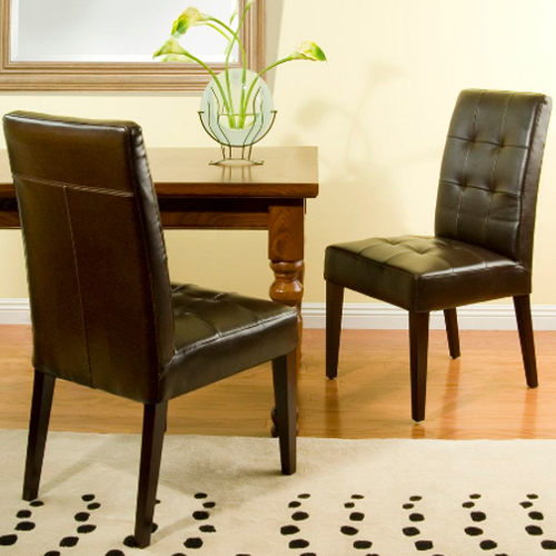 Cambridge Bronson Dining Chair 2pc Set Brown