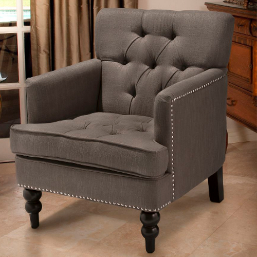 Malone Club Chair Charcoal Grey