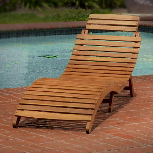 Lahaina Outdoor Chaise Lounge Natural Yellow