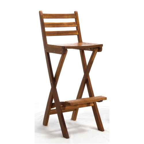 Tundra Foldable Outdoor Wood Barstool Natural