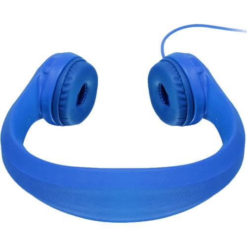 Aluratek Volume-Limiting Wired Foam Headphones - Blue