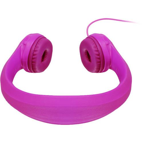 Aluratek Volume-Limiting Wired Foam Headphones - Pink