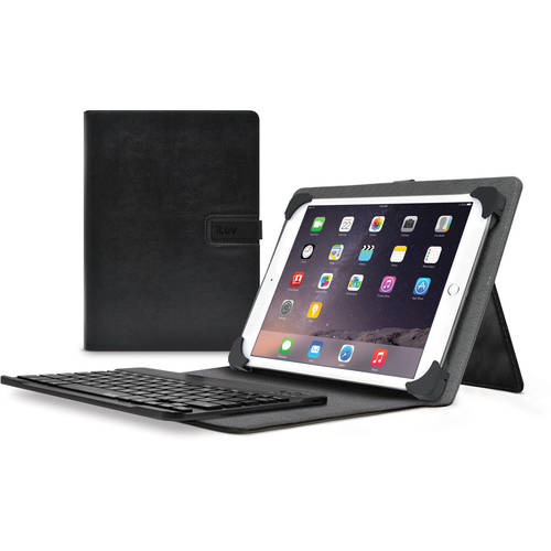 "iLuv Notebook Folio Case for Most 8.9""-10.1"" Tablets - Black"