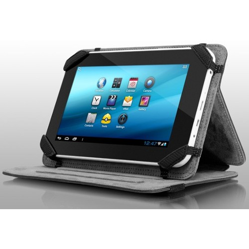 "Aluratek Universal 7"" Tablet Case with Stand - Black"