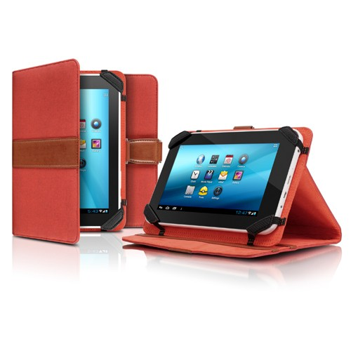 "Aluratek Universal 7"" Tablet Case with Stand - Red"
