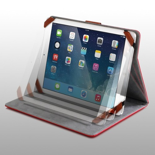 "Aluratek Universal Case for 8"" Tablets - Red"