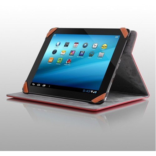 "Aluratek Universal 10"" Tablet Stand Case - Red"