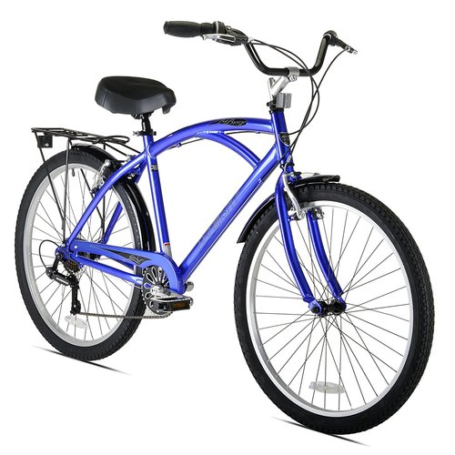"Kent 26"""" Men's Bay Breeze 7-Speed Cruiser Bicycle - Blue"" 12B-R47-22624"