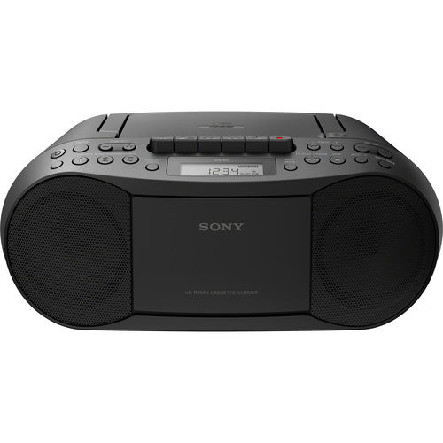 Sony CFDS70BLK CD/Cassette Boombox Home Audio Radio - Black
