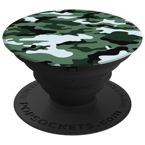 PopSockets Universal All Smartphones and Tablets Expanding Stand and Grip - Green Camo