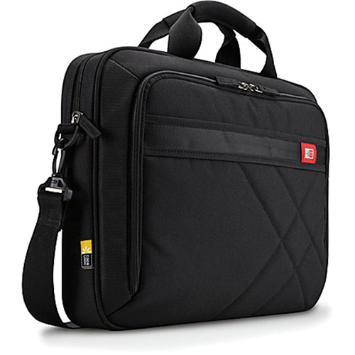"Case Logic 15.6"" Laptop and Tablet Carrying Case - Black/Red Accents"