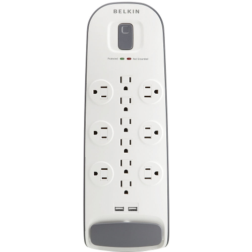 Belkin 12-Outlet Surge Protector with USB Charging - White