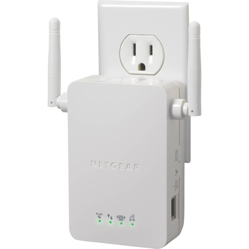 Netgear WN3000RP Universal Wi-Fi Range Extender with Ethernet Port - White -  WN3000RP-100NAS