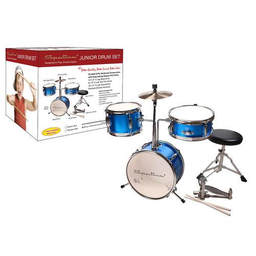 Spectrum AIL 620B 3-Piece Junior Drum Kit - Electric Blue