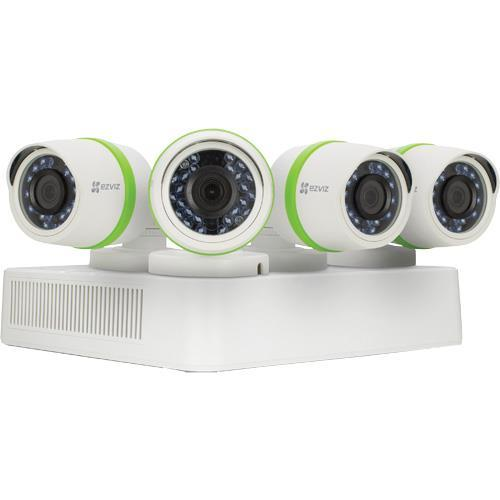 Ezviz T434 4 Camera 4 Channel 3MP (1536P) DVR Video Security System - White