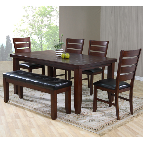 Marvista Dining Table 5pc Set with Bench