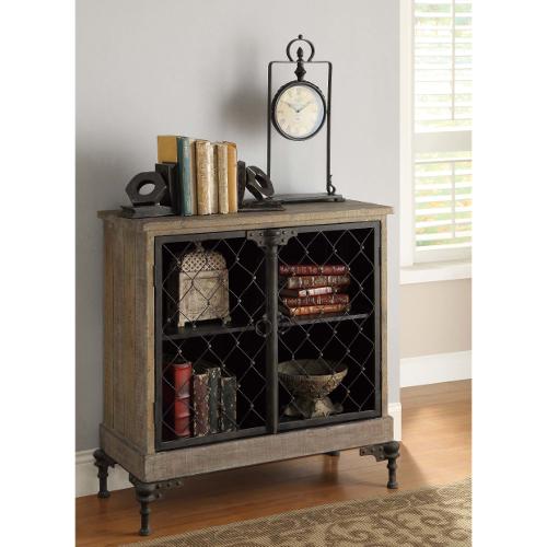 Crestview Orleans 2 Door Cabinet - Wood/Antique Metal 44L-R63-CVFR316