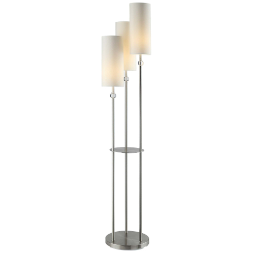 "Crestview Bolivar Modern 64"" 3 Arm Cylinder Tiered Floor Lamp"