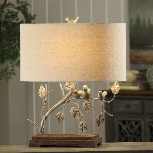 "Crestview Ella 23"" H Table Lamp with Drum Shade"