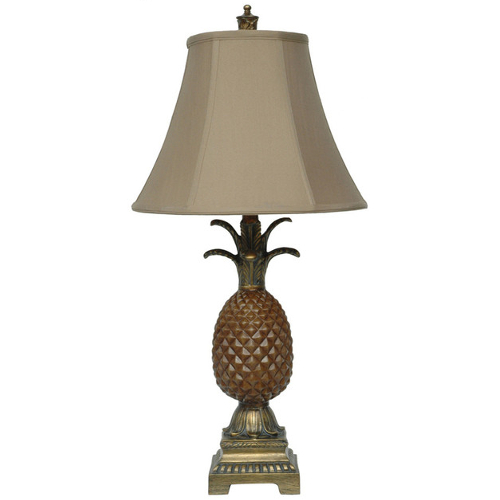 "Crestview Traditional Palm Coast 29"" H Tropical Table Lamp with Silk Shade"