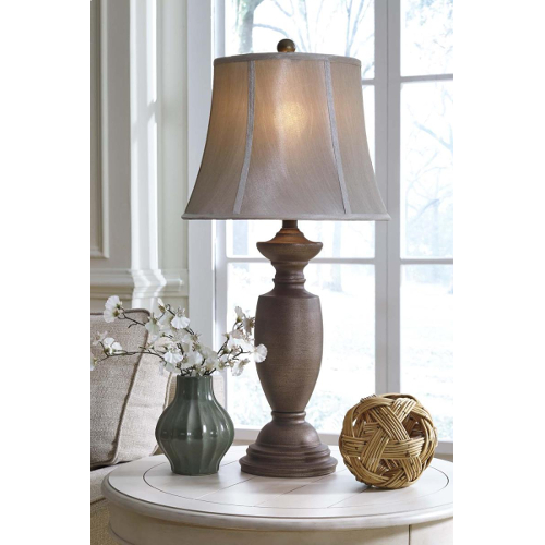 Ashley Ruth Antique Gold Metal Table Lamp - Set of 2