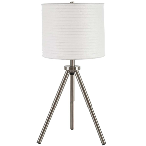 Ashley Susette Brushed Silver Metal Table Lamp - Set of 2