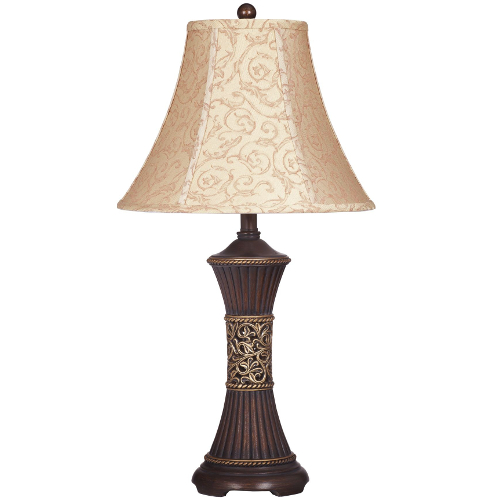 Ashley Mariana Bronze and Gold Poly Table Lamp - Set of 2