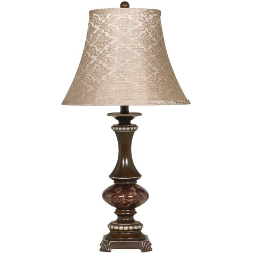 Ashley Rosemary Bronze and Silver Poly Table Lamp - Set of 2